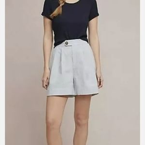 NWOT Anthropologie Seersucker Shorts Blue White S